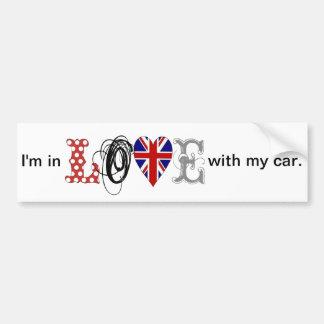 I LOVE my car bordadores Etiqueta De Parachoque