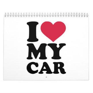 I love my car wall calendar