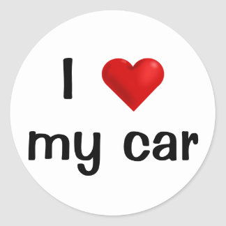 I Love my Car (customizable) sticker