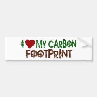I Love My Carbon Footprint Bumper Sticker