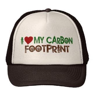 I Love My Carbon Footprint Mesh Hat