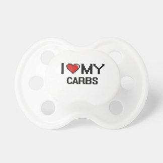 I Love My Carbs Digital design BooginHead Pacifier