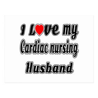 I Love My Cardiac nursing Husband Post Cards