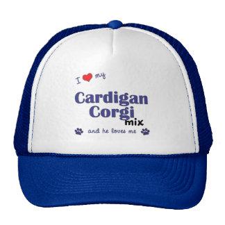 I Love My Cardigan Corgi Mix (Male Dog) Trucker Hat