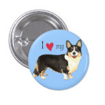 I Love my Cardigan Welsh Corgi 1 Inch Round Button