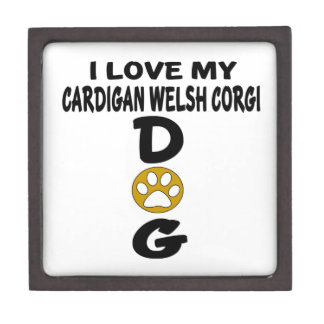 I Love My Cardigan Welsh Corgi Dog Designs Gift Box