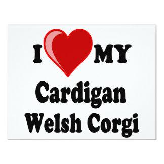 I Love My Cardigan Welsh Corgi Dog Lover Gifts Card