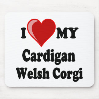 I Love My Cardigan Welsh Corgi Dog Lover Gifts Mouse Pad
