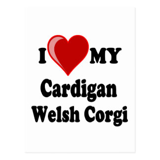 I Love My Cardigan Welsh Corgi Dog Lover Gifts Postcard