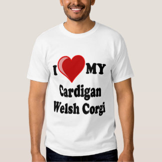 I Love My Cardigan Welsh Corgi Dog Lover Gifts T Shirt