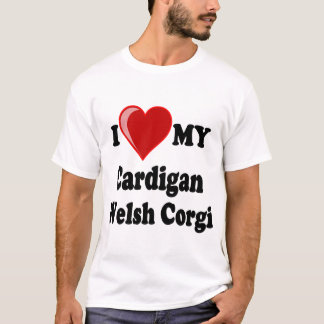 I Love My Cardigan Welsh Corgi Dog Lover Gifts T-Shirt