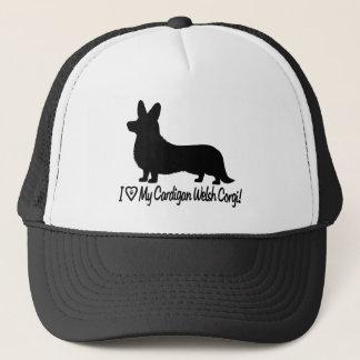 I Love My Cardigan Welsh Corgi in Silhouette Trucker Hat