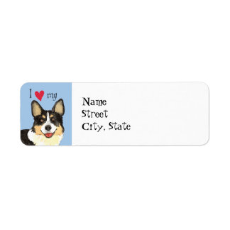 I Love my Cardigan Welsh Corgi Label