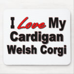 I Love My Cardigan Welsh Corgi Mousepad Mouse Pad