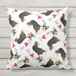 I Love my Cardigan Welsh Corgi Outdoor Pillow