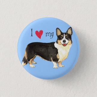 I Love my Cardigan Welsh Corgi Pinback Button