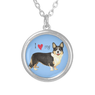 I Love my Cardigan Welsh Corgi Silver Plated Necklace