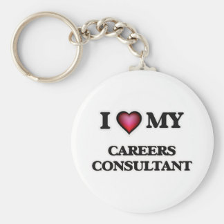 I love my Careers Consultant Basic Round Button Keychain