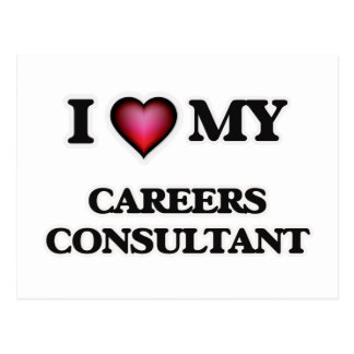 I love my Careers Consultant Postcard