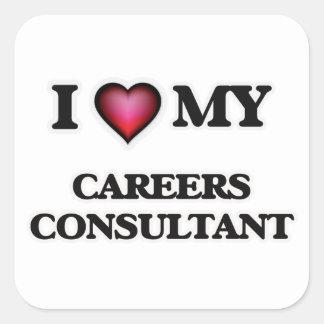 I love my Careers Consultant Square Sticker