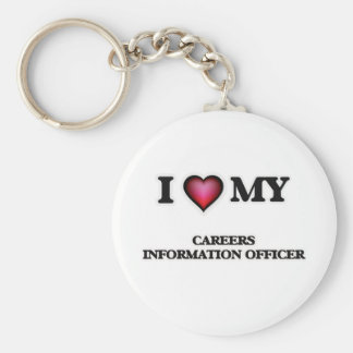 I love my Careers Information Officer Basic Round Button Keychain