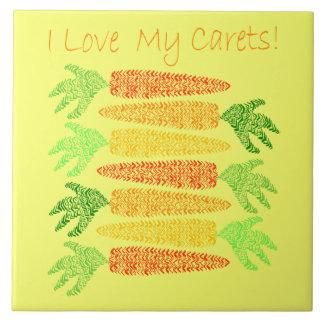 I love My Carets Tile
