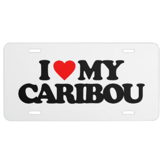 I LOVE MY CARIBOU LICENSE PLATE