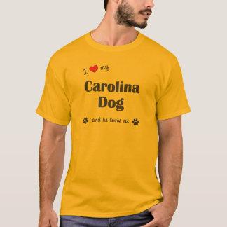 I Love My Carolina Dog (Male Dog) T-Shirt