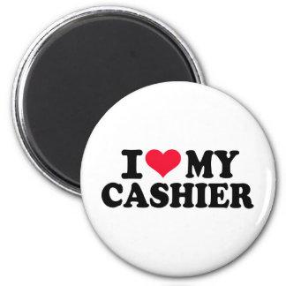 I love my Cashier 2 Inch Round Magnet
