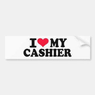 I love my Cashier Car Bumper Sticker