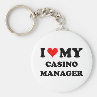 I Love My Casino Manager Key Chains