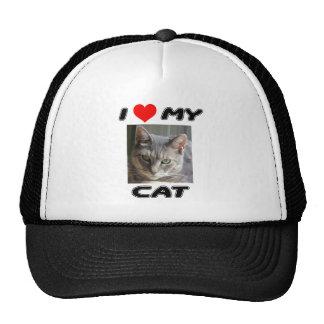 I LOVE MY CAT - ADD YOUR OWN PHOTO - CAP