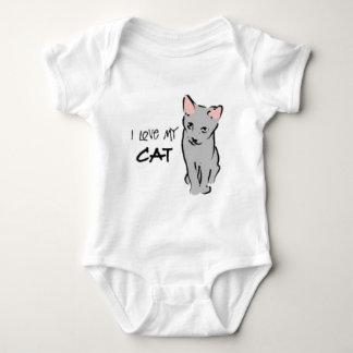 I love my cat! baby bodysuit