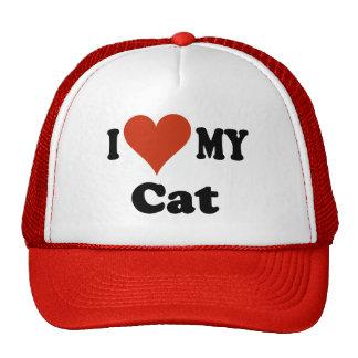 I Love My Cat Baseball Cap - Hat