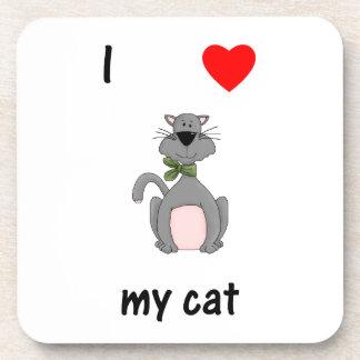 I Love My Cat Beverage Coaster