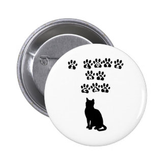 I Love My Cat--Black Text Pinback Buttons