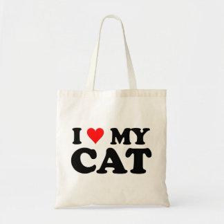 I Love My Cat Budget Tote Bag