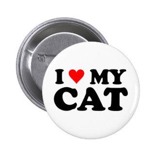 I Love My Cat Pinback Button