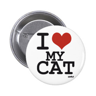 I love my cat button