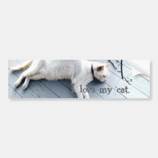 I love my cat. car bumper sticker