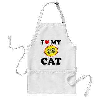 I Love My Cat CUSTOMIZABLE Adult Apron