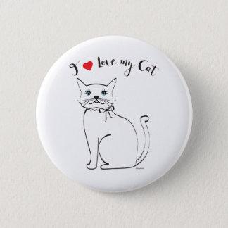 I love my Cat, Cute,Cool Pinback Button