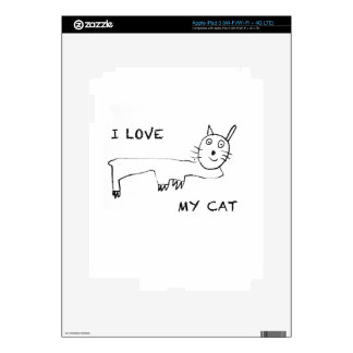 I Love My Cat Decals For iPad 3