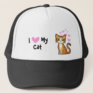 I Love My Cat (design your own cartoon cat) Trucker Hat