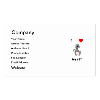 I Love My Cat Double-Sided Standard Business Cards (Pack Of 100)