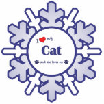 I Love My Cat (Female Cat) Acrylic Cut Out