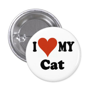 I Love My Cat Gifts and Apparel Pin
