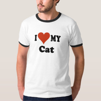 I Love My Cat Gifts and Apparel Shirt
