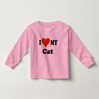 I Love My Cat Gifts and Apparel Toddler T-shirt