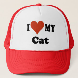 I Love My Cat Gifts and Apparel Trucker Hat
